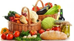 Food in baskets