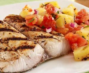 fish with pineapple salsa